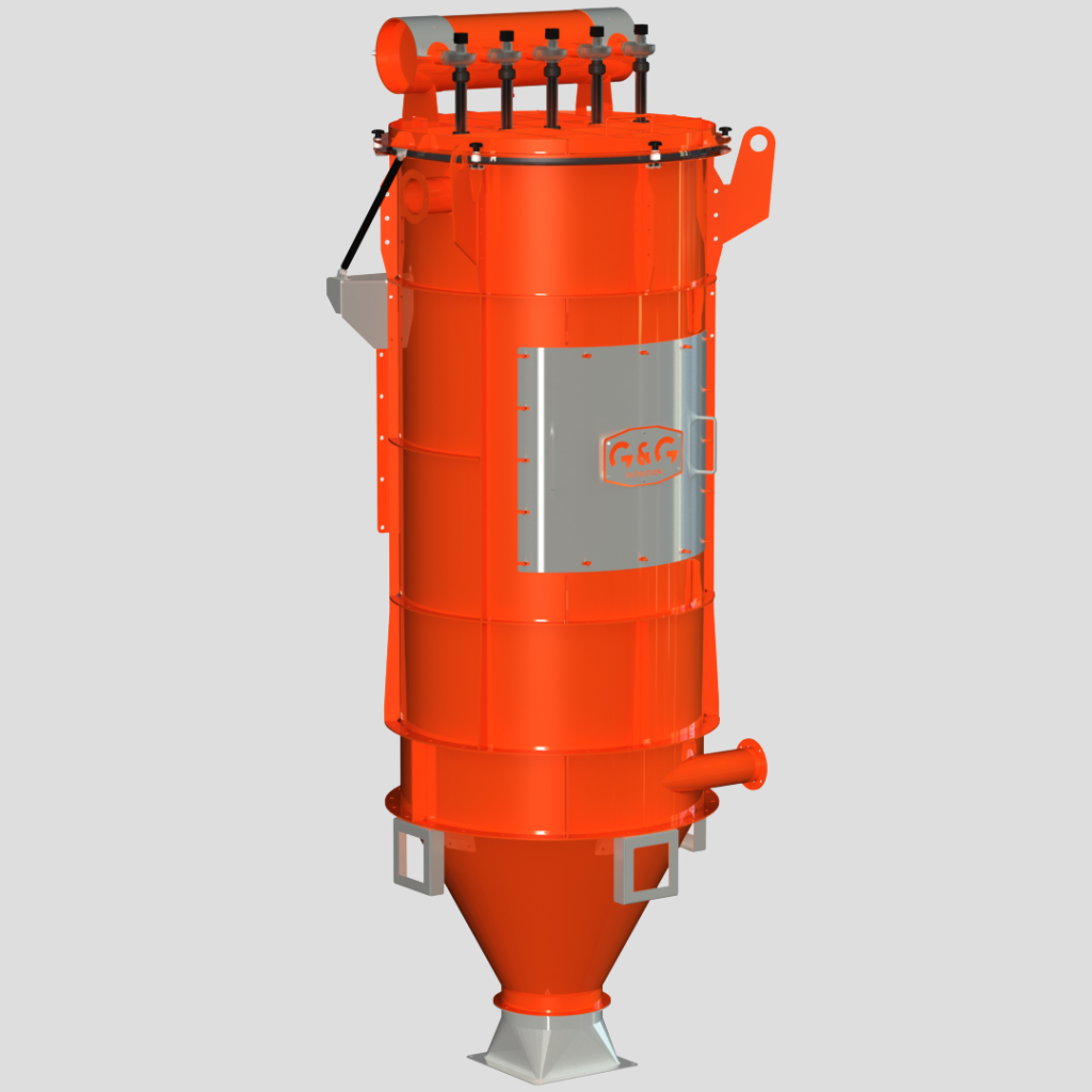 Stationary industrial central vacuum cleaner
