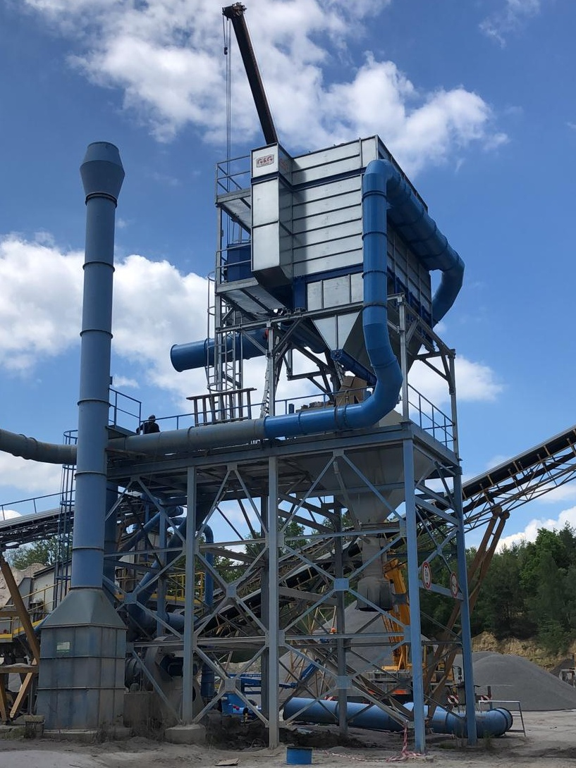 Dust extraction in the quarry